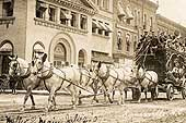 Horse-drawn Circus Wagon on Main Street