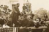 Teddy Roosevelt Speaking at Courthouse